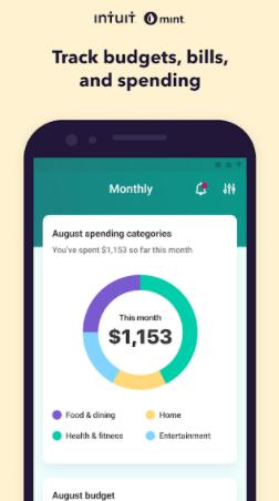 Mint es una app de finanzas personales