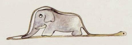 Una boa comiéndose un elefante. A veces la realidad no es lo que parece. Esto pasa en la Bolsa de Valores y la Felicidad Financiera