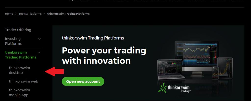 Thinkorswim ofrece plataformas para escritorio, web y móvil