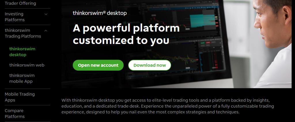 Puedes usar Thinkorswim si tienes una cuenta en TD Ameritrade o no