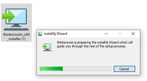 Para usar Thinkorswim debes instalarlo en tu computador