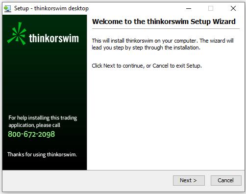Instalar Thinkorswim es sencillo