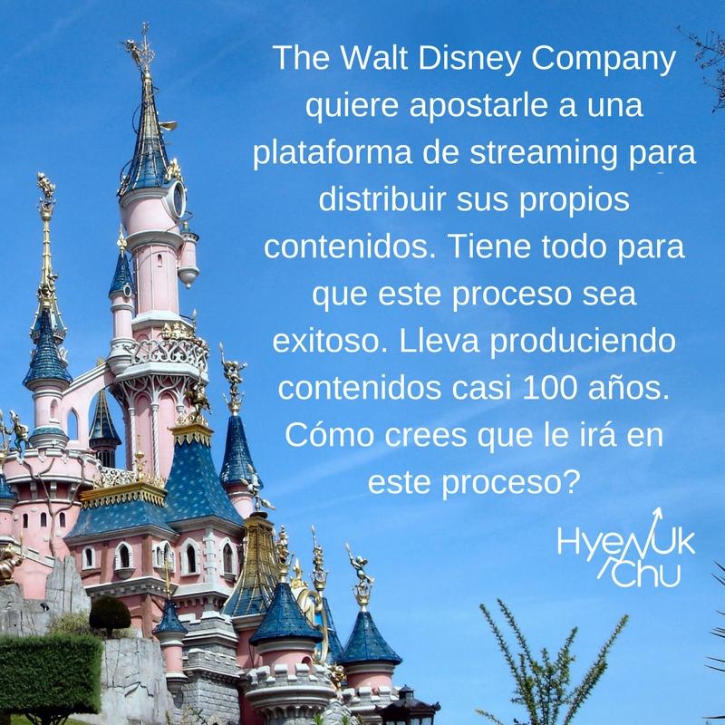 Streaming: nueva estrategia de Walt Disney.