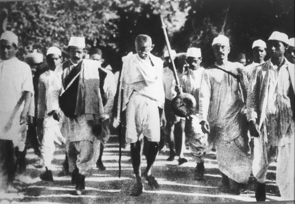 Gandhi luchó por los derechos de su pueblo.