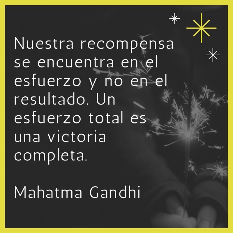 Una frase de Gandhi para no olvidar.