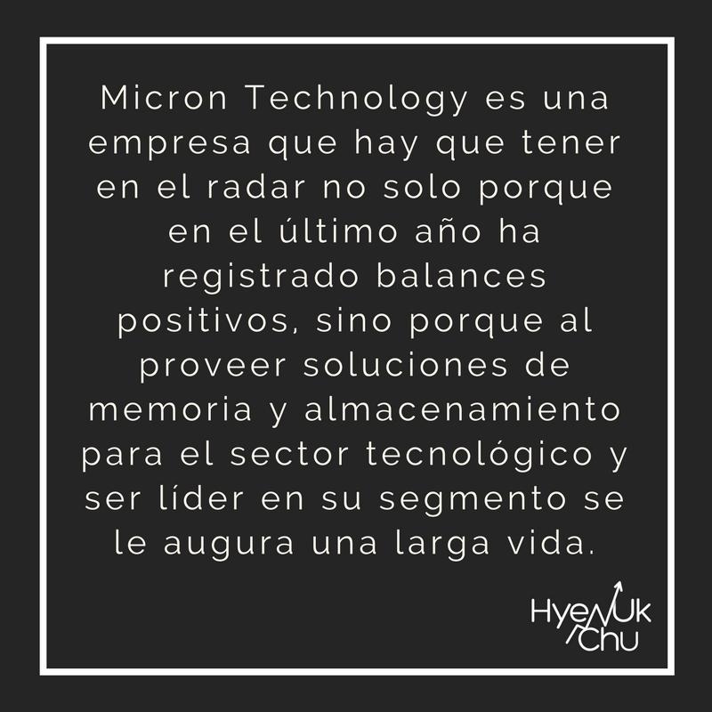 La apuesta de Micron Technology.