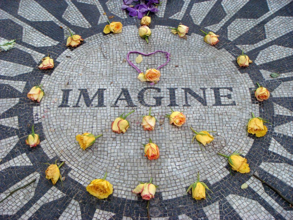 Lennon imaginaba un mundo mejor.