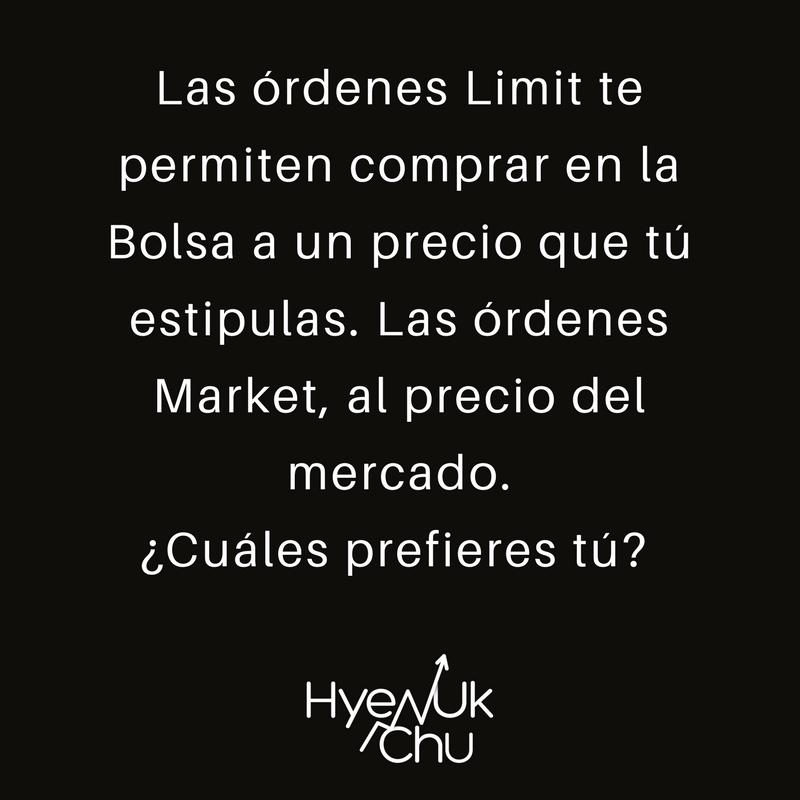 Diferencia entre limit y market.