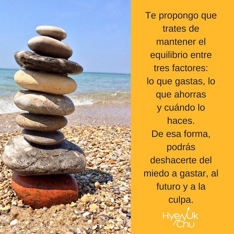 El equilibrio te ayuda a superar miedos.