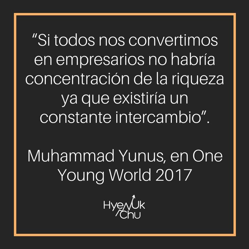 Palabras de Muhammad Yunus.