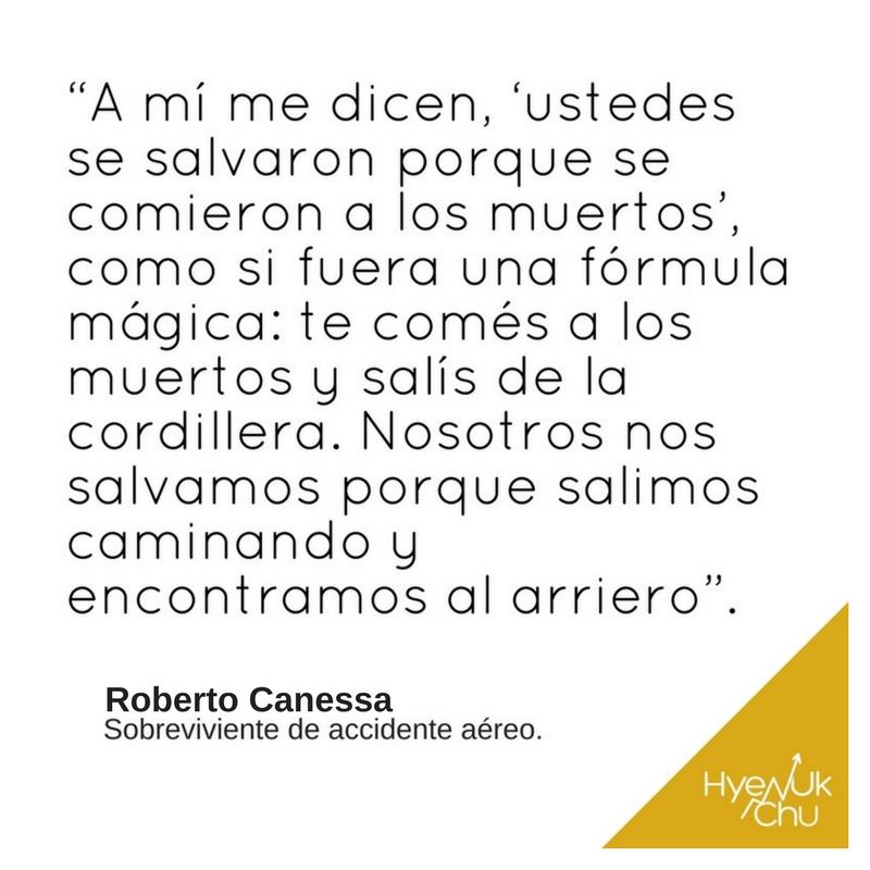 """Roberto Canessa, sobreviviente, es """"maestro en dar esperanza a los demás."""