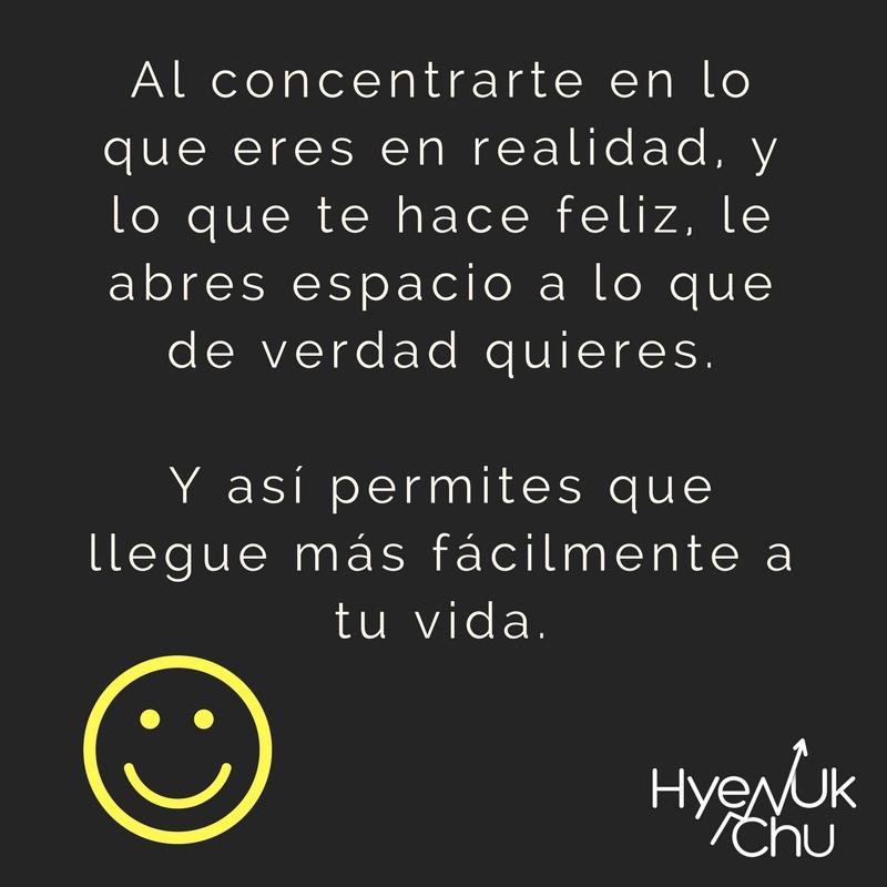 Clave para ser feliz.