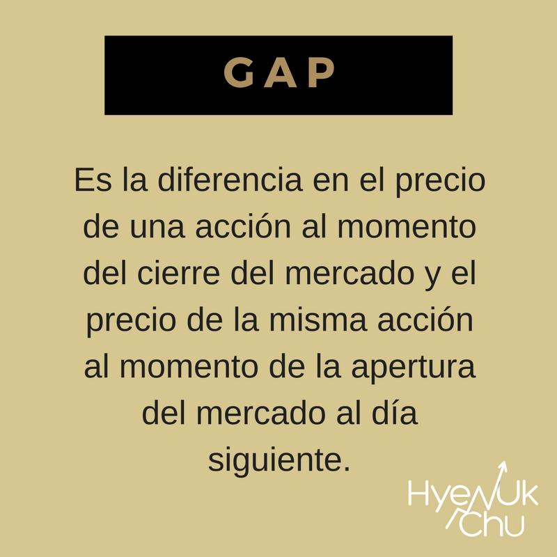 Definición de gap.