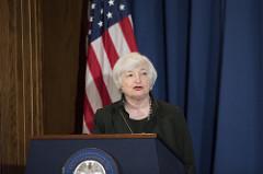Janet Yellen, presidente saliente de la FED.