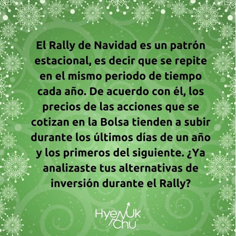 Lo que es el Rally de Navidad.