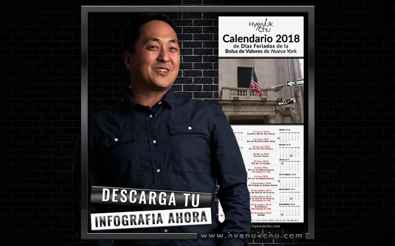 2018 Calendario De Días Feriados De La Bolsa De Valores De Nueva York - Hyenuk Chu