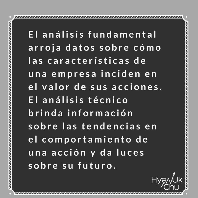 Definición del análisis técnico y fundamental.
