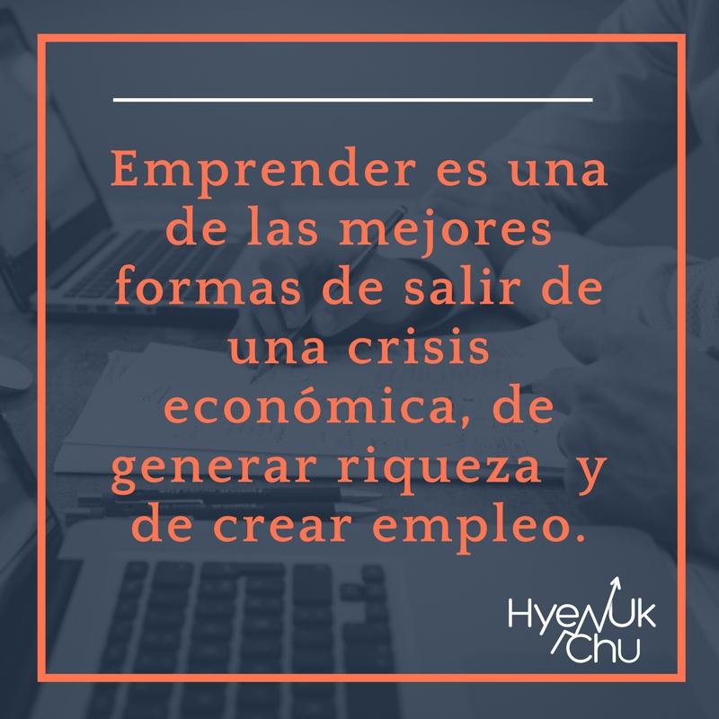 Importancia de emprender para superar la crisis en España.