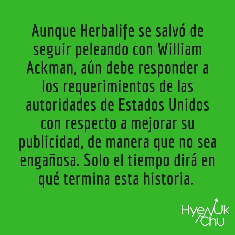 Los compromisos de la empresa Herbalife.