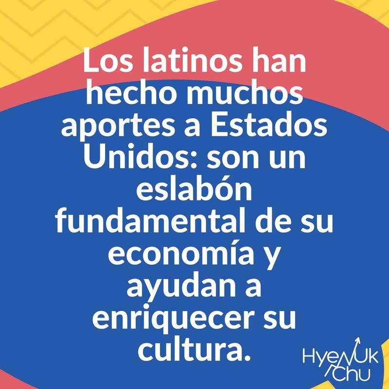 El rol de los hispanos en Estados Unidos.