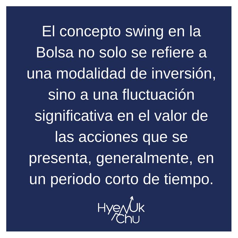 Descripción de swing en la Bolsa.