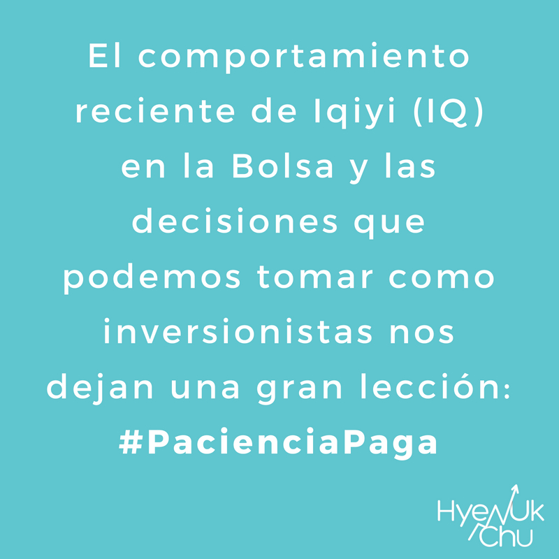 Lo que nos demuestra Iqiyi es que #PacienciaPaga.