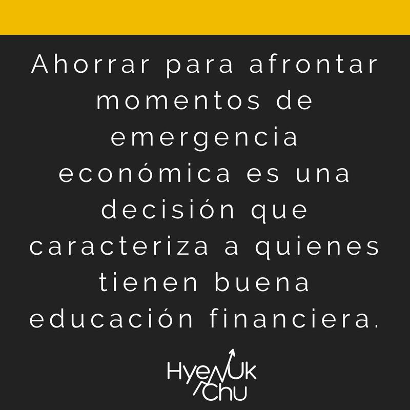 Clave sobre ahorrar dinero para emergencias.