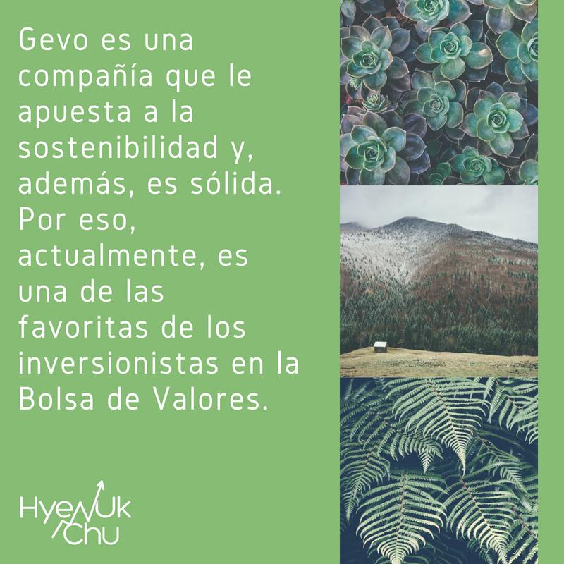 La sostenibilidad es la apuesta de Gevo.
