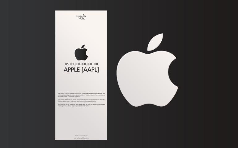 [INFOGRAFÍA] USD$1,000,000,000,000 Apple [AAPL] – Hyenuk Chu