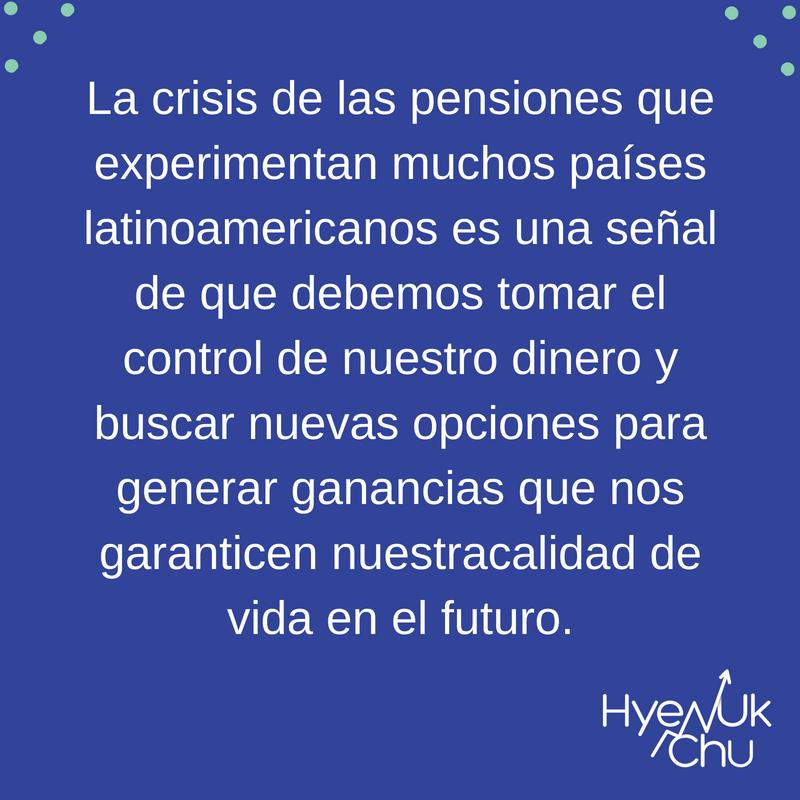 Frente a las crisis de las pensiones, actúa.