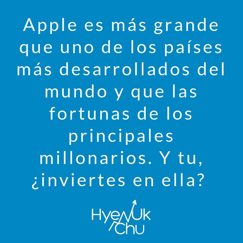 En un buen portafolio de inversiones podría estar la billonaria Apple.