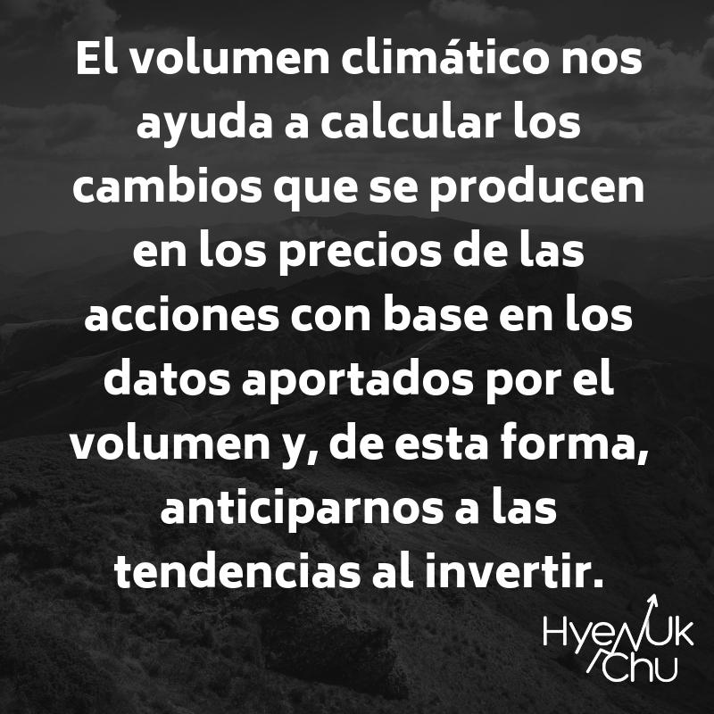 Descripción del volumen climático.