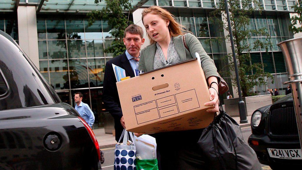 Mucha gente perdió su empleo con el colapso de Lehman Brothers.