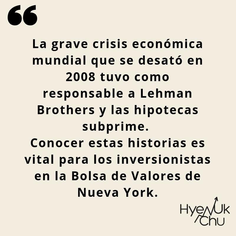 Clave para entender la historia de Lehman Brothers.