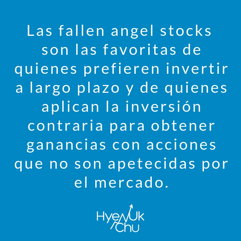 Definición de fallen angel stocks.