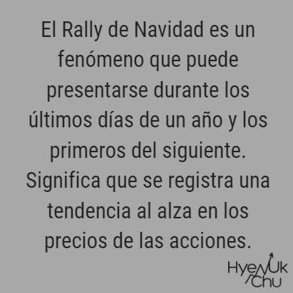 Lo que pasará con el Rally de Navidad hace parte de las predicciones sobre la Bolsa.
