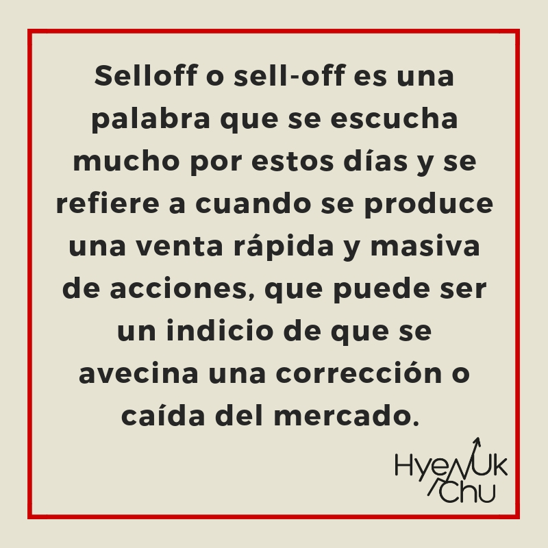 Definición de selloff.
