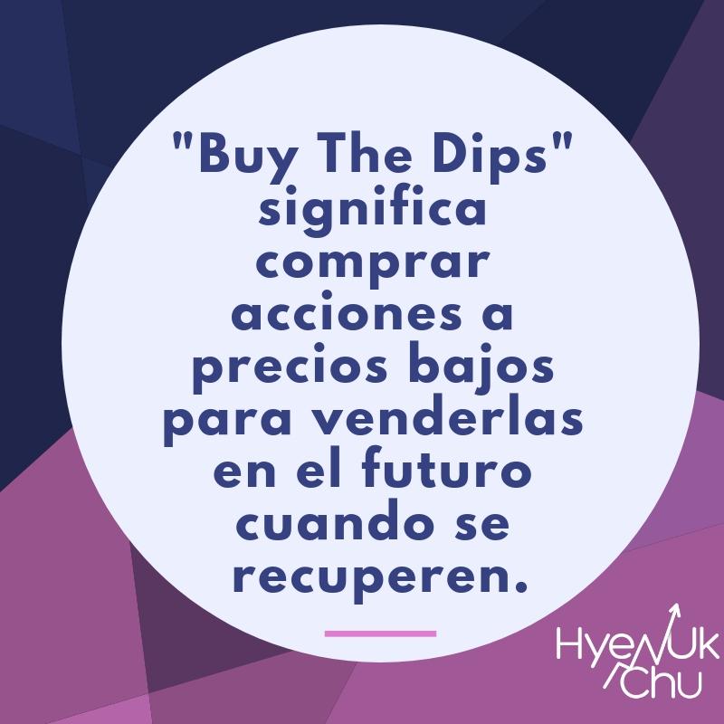 Definición de buy the dips.
