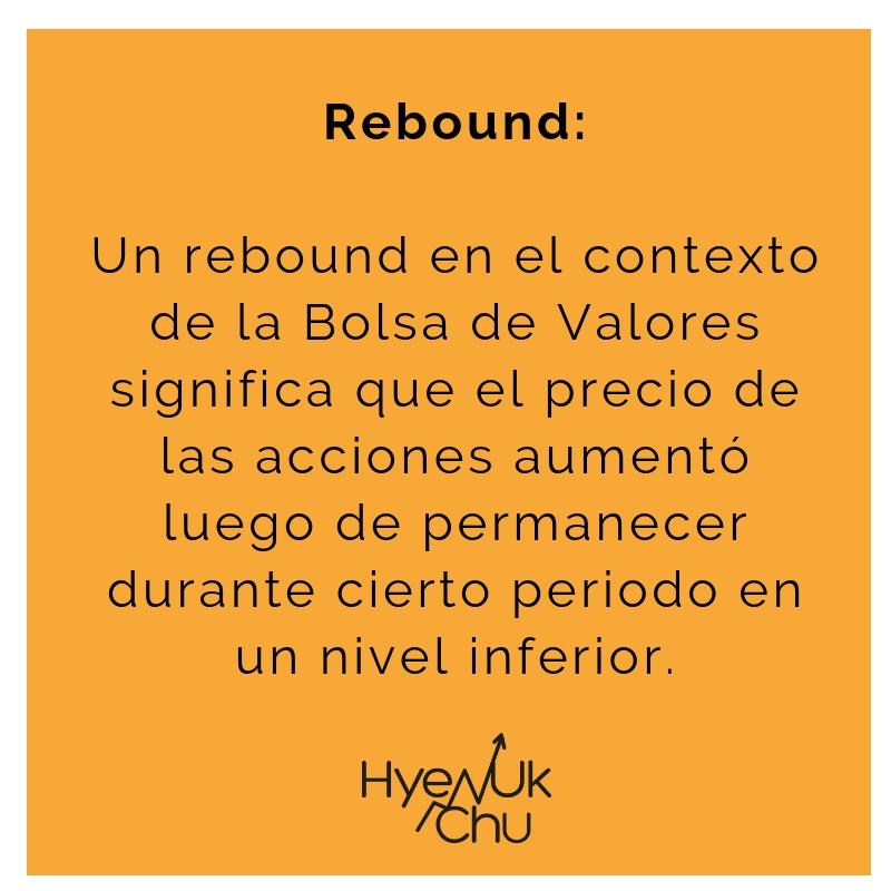 Definición de rebound.