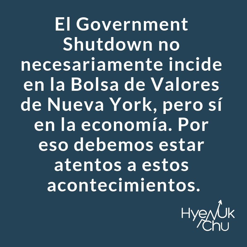 Dato clave sobre el government shutdown.