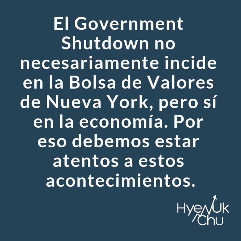 Dato clave sobre el government shutdown.
