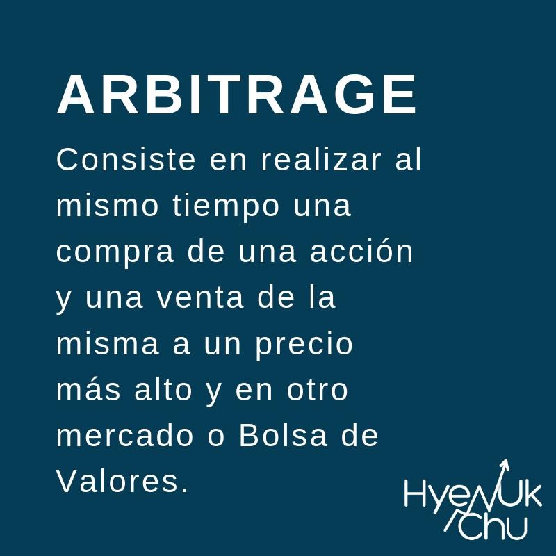 Lo que es el arbitrage en la Bolsa - Hyenuk Chu