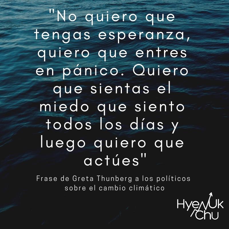 Lo que dijo Thunberg del cambio climático - Hyenuk Chu