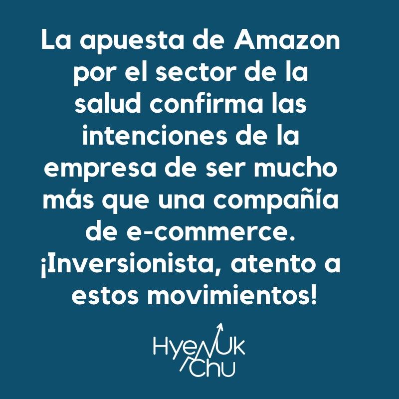 Amazon incursiona en inversiones en salud - Hyenuk Chu
