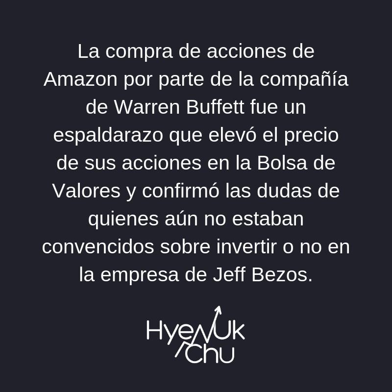 Clave sobre el negocio entre Buffett y Amazon - Hyenuk Chu
