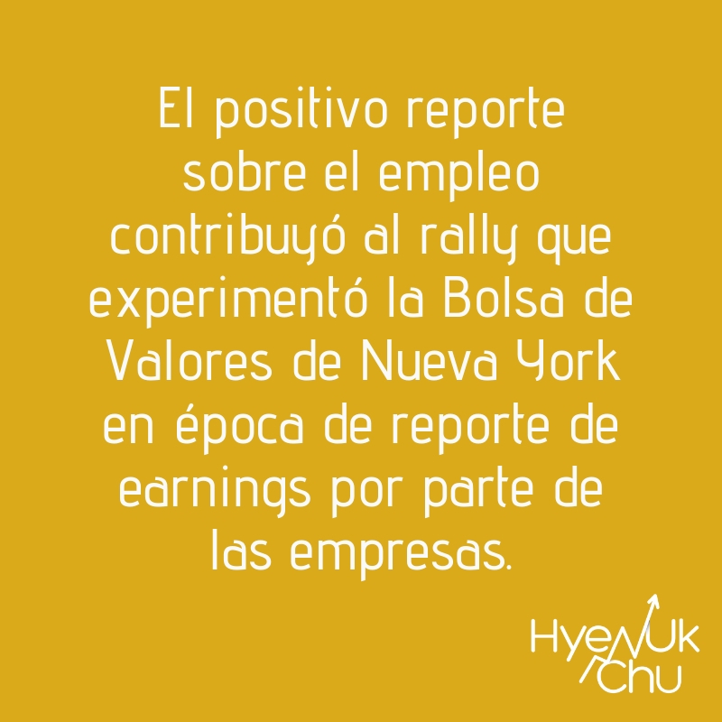 Dato sobre reportes de earnings - Hyenuk Chu