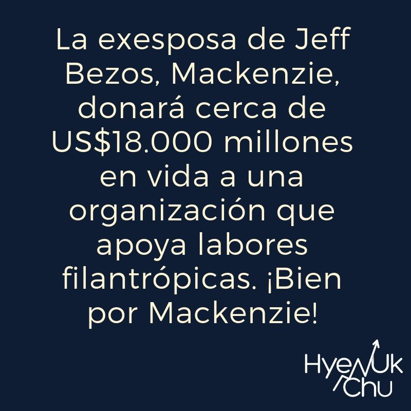 Claves sobre Mackenzie Bezos, Amazon y Tesla - Hyenuk Chu