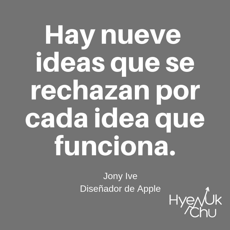 Frase del diseñador de Apple - Hyenuk Chu