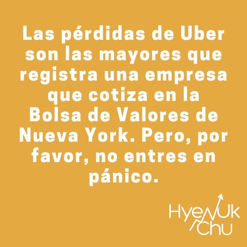 Dato clave sobre Uber en la Bolsa - Hyenuk Chu