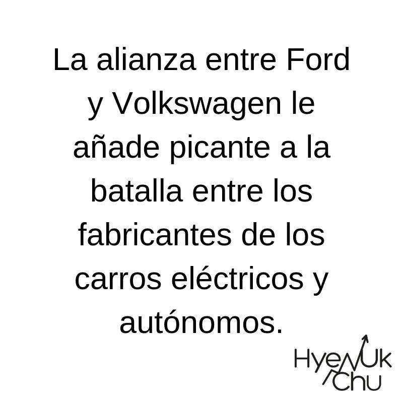 Alianza entre Ford y Volkswagen - Hyneuk Chu